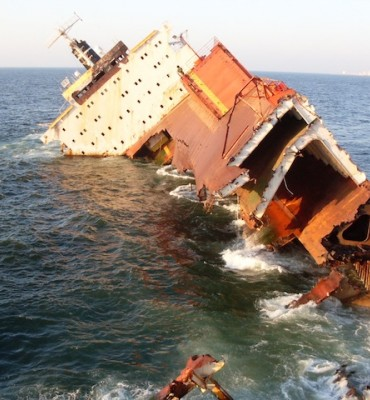 Salvage operations of sunken vessels